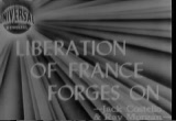 Still frame from: Liberation Of France Forges On, 1944/07/18