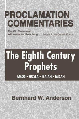 Download The Eighth Century Prophets