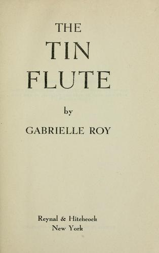 Download The tin flute