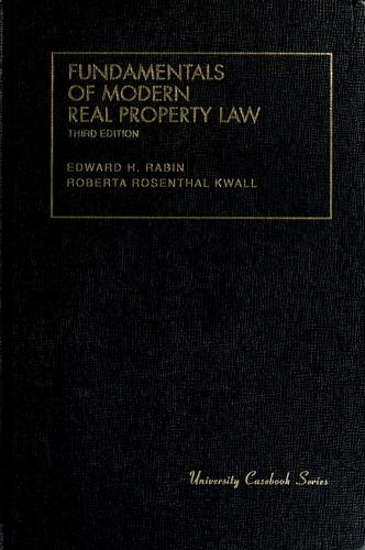 Fundamentals of modern real property law