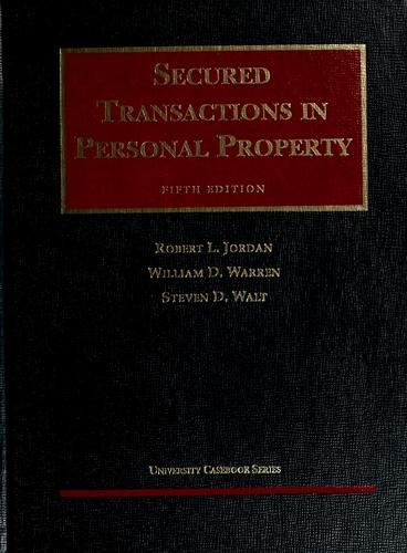 Download Secured transactions in personal property