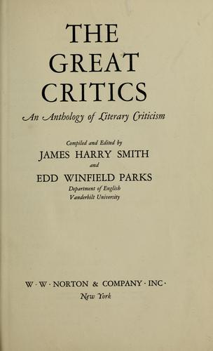 The great critics