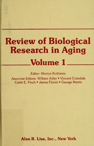 Download Review of Biological Research in Aging (Review of Biological Research in Aging)