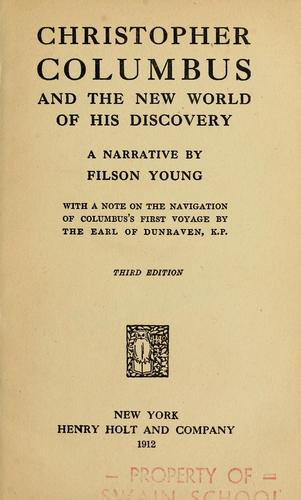 Download Christopher Columbus and the New World of his discovery