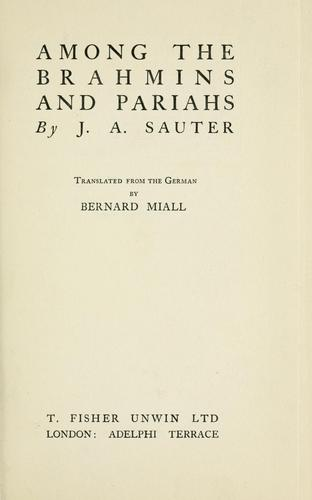 Download Among the Brahmins and pariahs