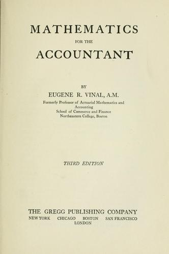 Mathematics for the accountant