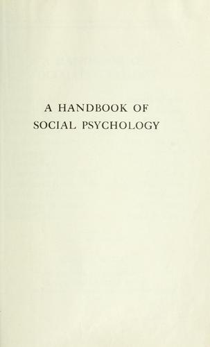 Download A handbook of social psychology