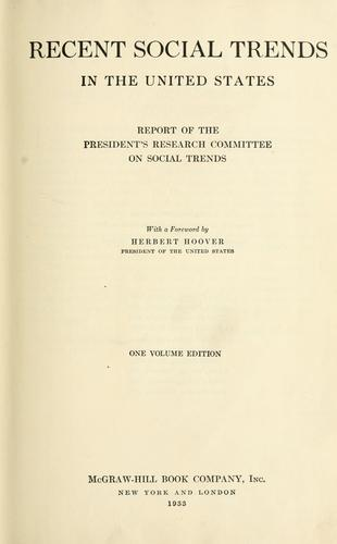 Download Recent social trends in the United States