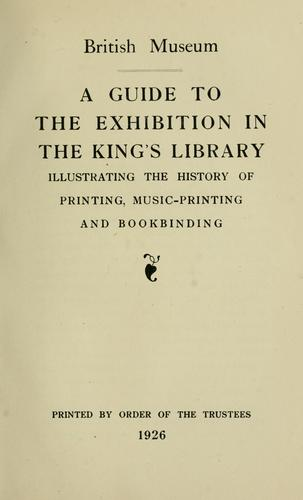 Download A guide to the exhibition in the King's library