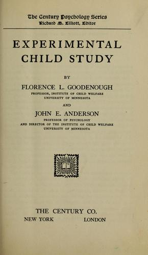 Experimental child study