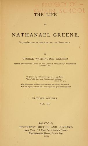 Download The life of Nathanael Greene