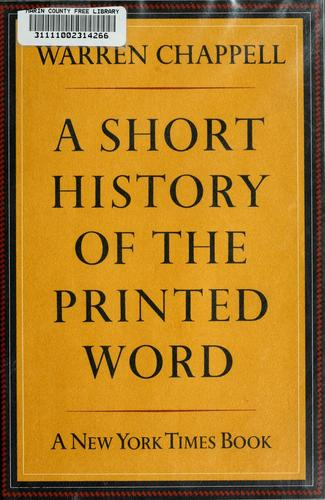 A short history of the printed word.