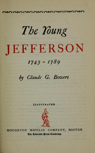 Download The young Jefferson, 1743-1789