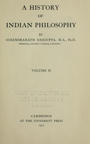 A history of Indian philosophy.