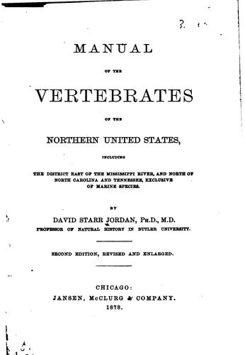 Manual of the Vertebrates of the Northern United States: Including the …