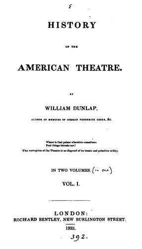 HISTORY OF THE AMERICAN THEATRE.