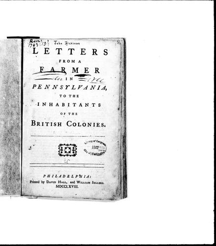 Download Letters from a farmer in Pennsylvania to the inhabitants of the British colonies