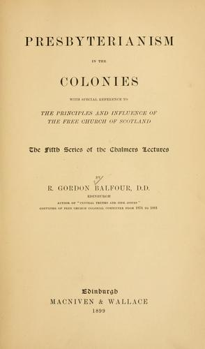 Download Presbyterianism in the colonies