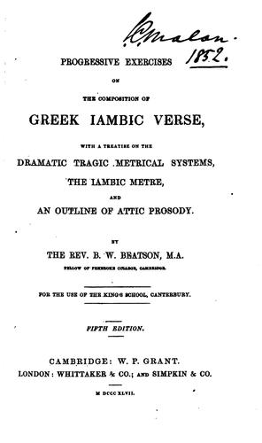 Progressive exercises on the composition of Greek iambic verse