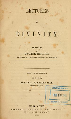 Download Lectures in divinity