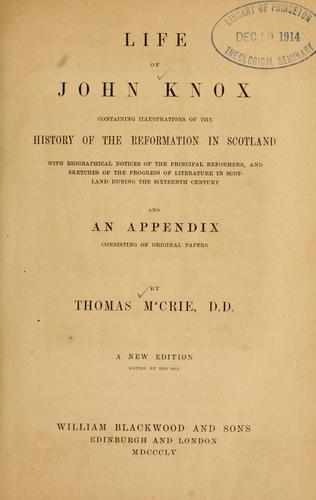Download The works of Thomas M'Crie, D.D.