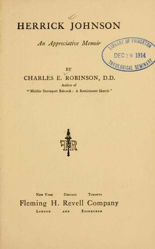 Herrick Johnson by Charles Edward Robinson