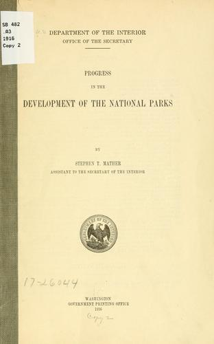 Download Progress in the development of the national parks