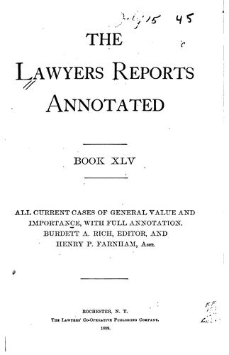 Lawyers' Reports Annotated