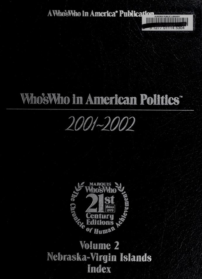 Who's who in American politics by Paul A. Theis