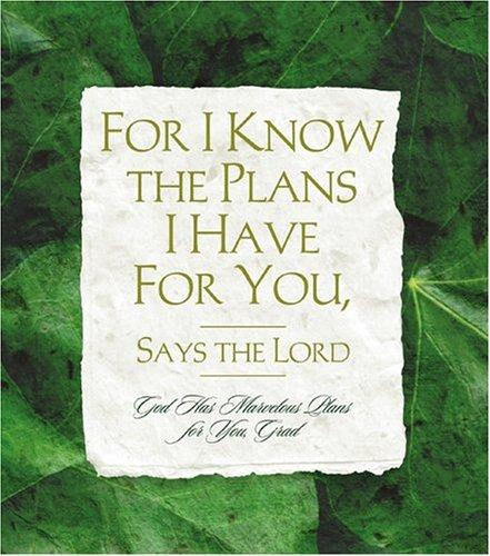 For I Know the Plans I Have for You, Says the Lord (Daymaker Greeting Books) by Ellyn Sanna