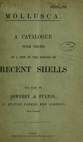 Sale catalogues by Sowerby and Fulton by G. B. Sowerby