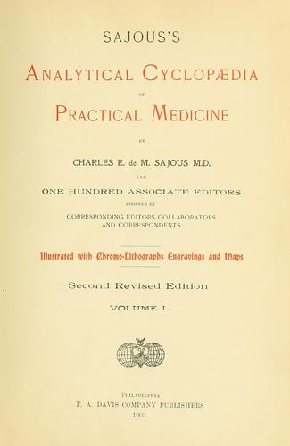 Sajous's analytical cyclopædia of practical medicine by Charles E. de M. Sajous