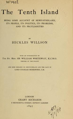The tenth island by Willson, Beckles