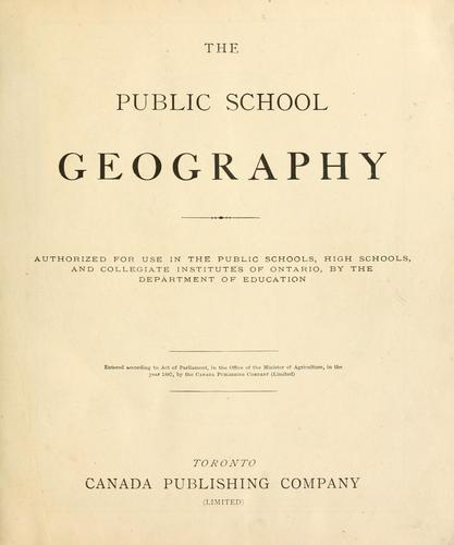 High school geography by G. A. Chase