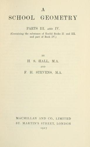 A school geometry by Hall, H. S.
