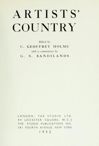 Artists' country by George Sommerville Sandilands
