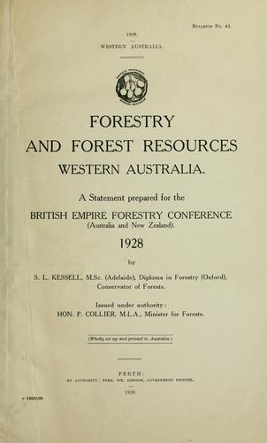 Western Australia by British Empire forestry conference, 3d, Australia and New Zealand