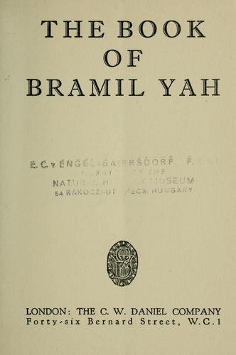 The Book of Bramil Yah by