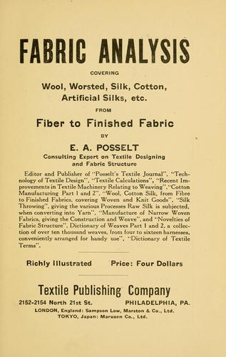 Fabric analysis by E. A. Posselt