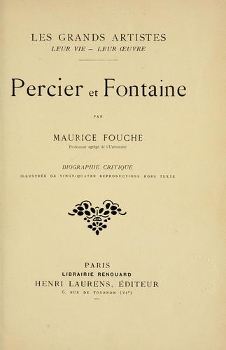 Percier et Fontaine by Maurice Fouche