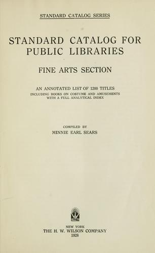 Standard catalog for public libraries by H.W. Wilson Company