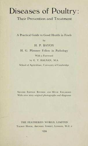 Diseases of poultry by Henry Peter George Bayon