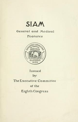 Siam by Far Eastern Association of Tropical Medicine