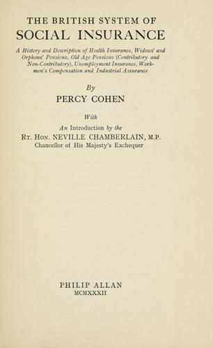 The British system of social insurance by Percy Cohen