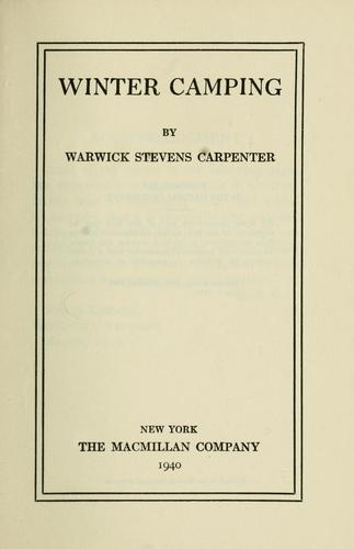 Winter camping by Warwick Stevens Carpenter