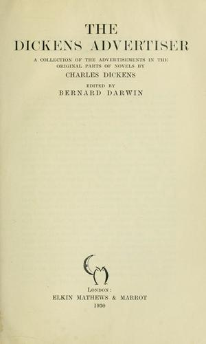 The Dickens advertiser