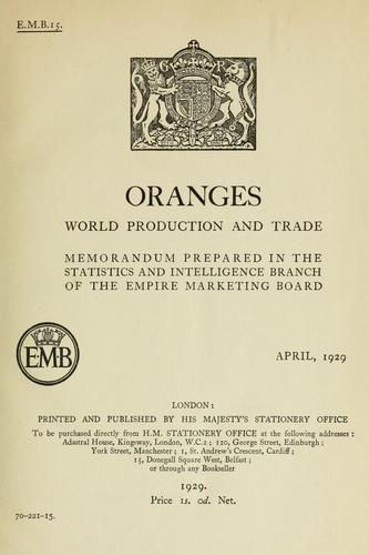 Oranges by Great Britain. Empire Marketing Board