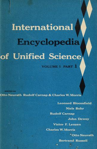 International encyclopedia of unified science by Otto Neurath