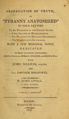 Propagation of truth by James Lovell