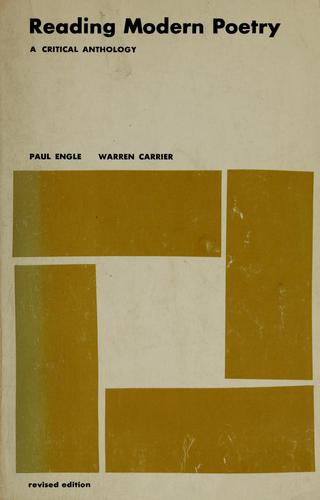 Reading modern poetry by Paul Engle